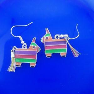 Whimsical Burro Pinata Earrings